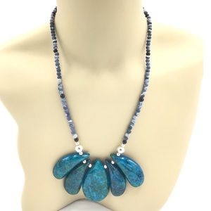 """HP Creations: Chrysocolla Necklace NWT 20 1/2"""""""